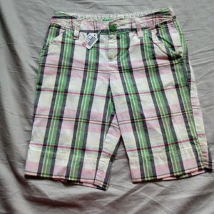 Arizona Jeans company size 8 plaid Bermuda shorts